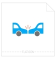 Accident of car Silhouette color icon vector image