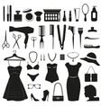 Beauty and Fashion icons collection vector image