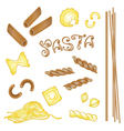 Noodles pasta vector image