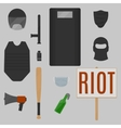 Riot objects vector image