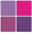 Violet blue and pink polka dots background set vector image