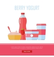 Berry Yogurt Dairy Products from Milk vector image