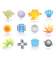 graphic symbols set vector image vector image