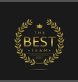 best team label vector image