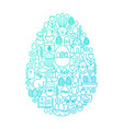 easter line icon egg design vector image