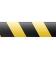 Abstract black and yellow restrictive barrier vector image vector image
