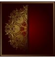Elegant gold line art ornamental lace circle vector image vector image