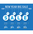 New year sale time line graph social activity vector image vector image