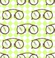 Sketch vintage glasses in vintage style vector image