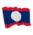 political waving flag of laos vector image