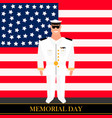 american military officer vector image
