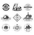 BBQ Vintage Label Set vector image