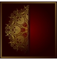 Elegant gold line art ornamental lace circle vector image