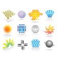 graphic symbols set vector image