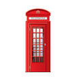 london phone booth isolated vector image