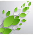Paper leaves vector image