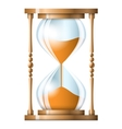 Transparent sand hourglass isolated on white vector image