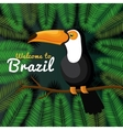 welcome to brazil representing icons vector image