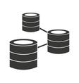 disk server data storage icon vector image