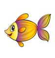 yellow fish vector image vector image