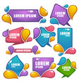 collection of bright labels bubbles tags vector image vector image