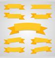 ribbon flat set with shadow vector image