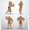 bodybuilder collection vector image