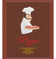 Pizza Menu with chef Template vector image vector image