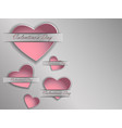 3d paper heart on a gray background vector image