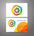 team company logo business card template vector image