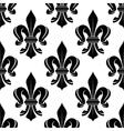 Black and white fleur-de-lis seamless pattern vector image