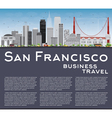 San Francisco Skyline with Gray Buildings vector image