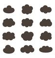 Flat design monochrome cloud icons vector image vector image