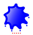 abstract ink blot icon flat style vector image