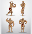 bodybuilder collection vector image