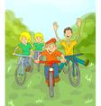 Children Ride Bike vector image