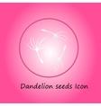 Dandelion pink icon vector image