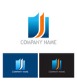 document square business logo vector image