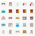 Furniture icons color version vector image