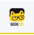 Logo icon Geek cat logo templates vector image