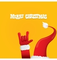 Santa Claus rock n roll icon vector image