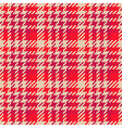 Seamless red Gingham comprised by threads vector image