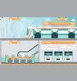 subway railway interior vector image