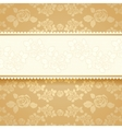 Golden roses with background Square vector image
