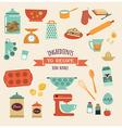 recipe and kitchen design icon set vector image