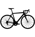 road racing bike silhouette vector image vector image