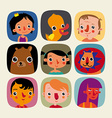 Set of childrens icons vector image