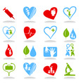 medical icons7 vector image