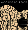 acoustic rock vector image