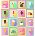 ice cream flat icons 19 vector image vector image